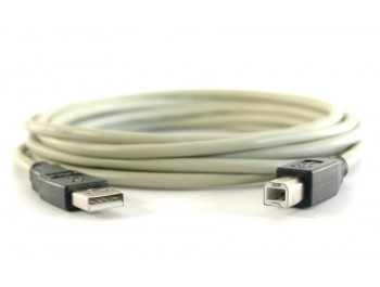 USB 2.0-kabel A hane - B hane 0.5m - finns på Kabelbutiken.com
