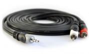 Förgreningskabel 3.5mm hane - 2xRCA hane 5m | Kabelbutiken.com