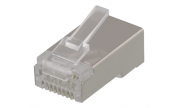 Modularkontakt Cat6a/RJ45 STP  Patch med loadbar