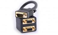 Adapter VGA hane - 2x VGA hona - finns på kabelbutiken.com