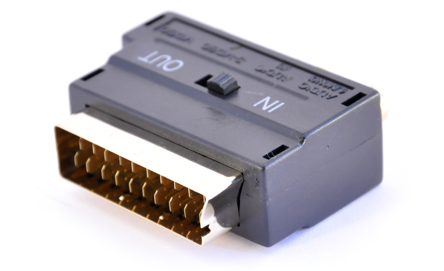 Adapter Scart - 3x RCA + S-video