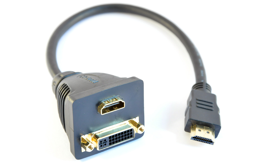 Adapter HDMI hane - DVI-D hona + HDMI hona