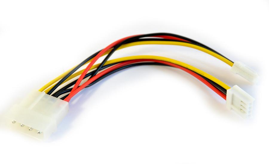 "Y-kabel Molex 5.25"" - 2x 3.5"""