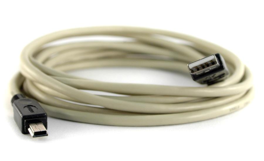 USB 2.0-kabel A hane - Mini B hane 5 m