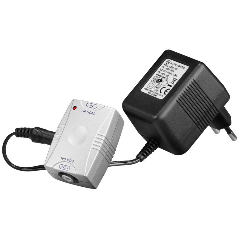 Aktiv Optisk/Toslink till Koaxial-konverter