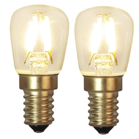Led-Lampa Filament E14 2pack 90lm 1,3w 2100k Soft-Glow