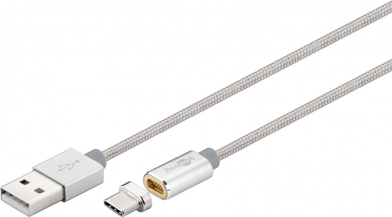 USB-C™ laddningskabel med magnetisk kontakt 1,2 meter