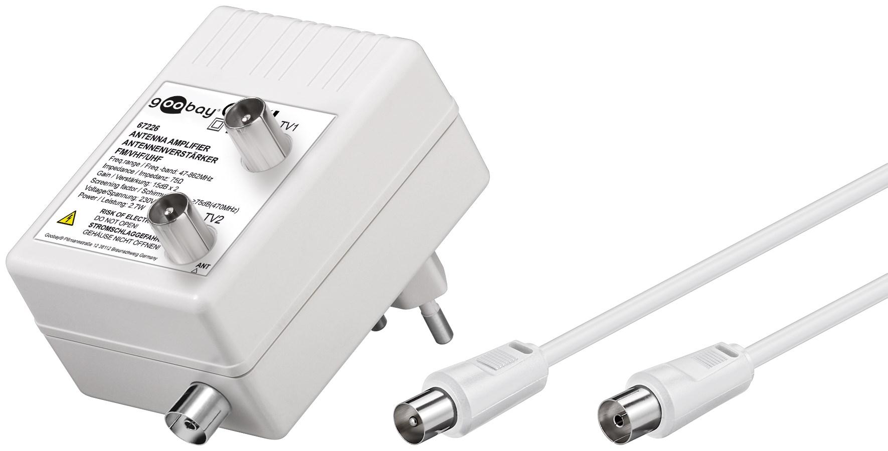 Antennförstärkare med dubbla utgångar