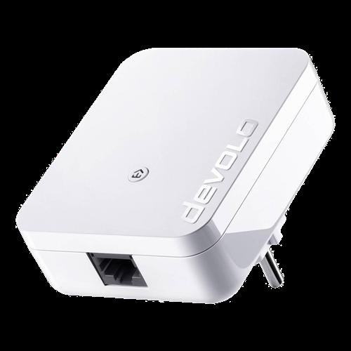 Devolo Powerline 1000 miniadapter, 1x Ethernet, CMSA, 128 bitars AES-kryptering, vit