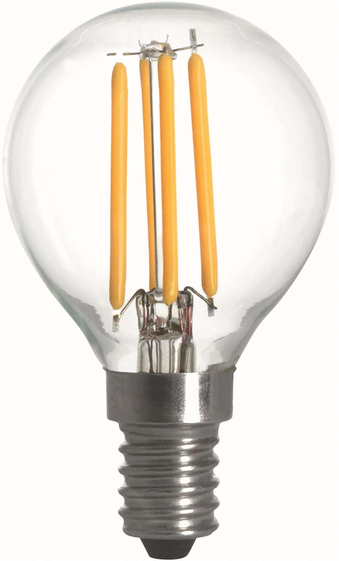 Filament Led-Lampa, Klot, 4W, E14, 230V