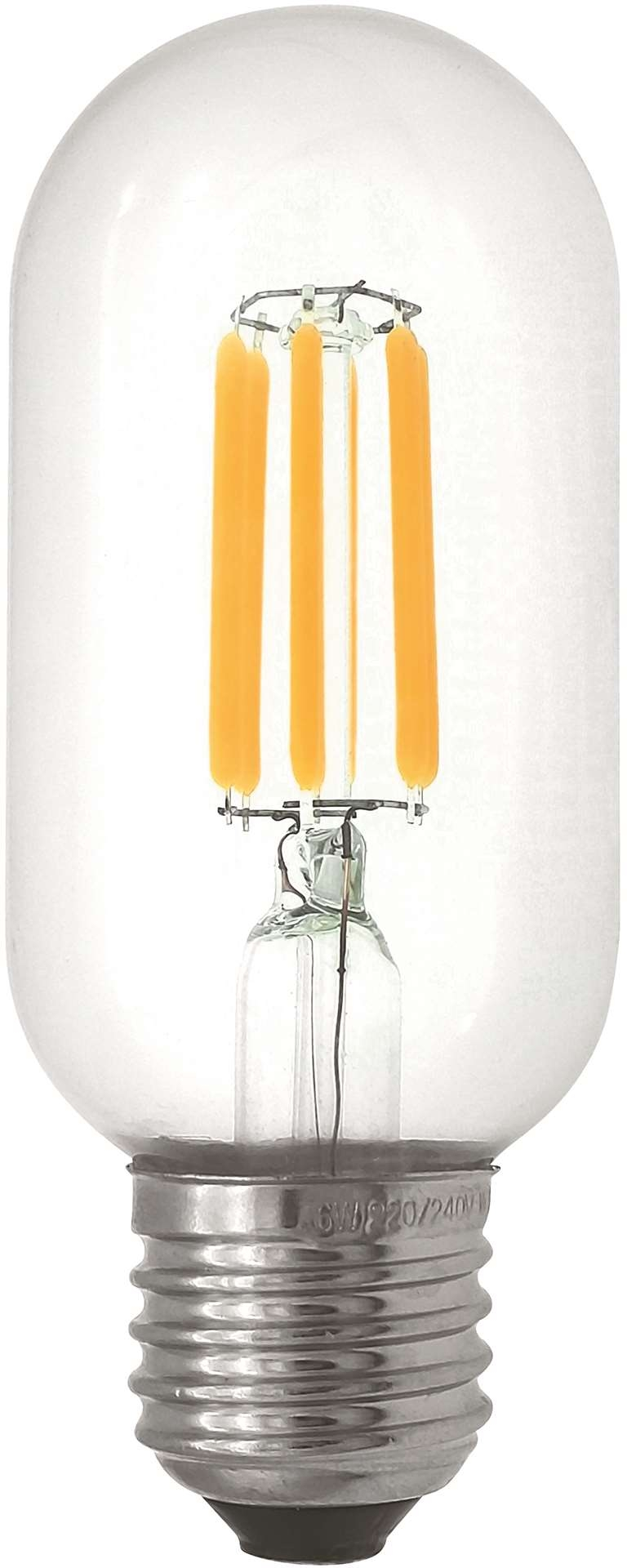 Filament Led-Lampa, T45, Klar, 4W, E27, 230V