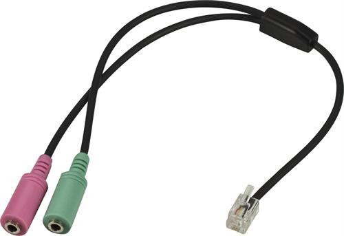 Telefonadapter 2x3,5mm till RJ10