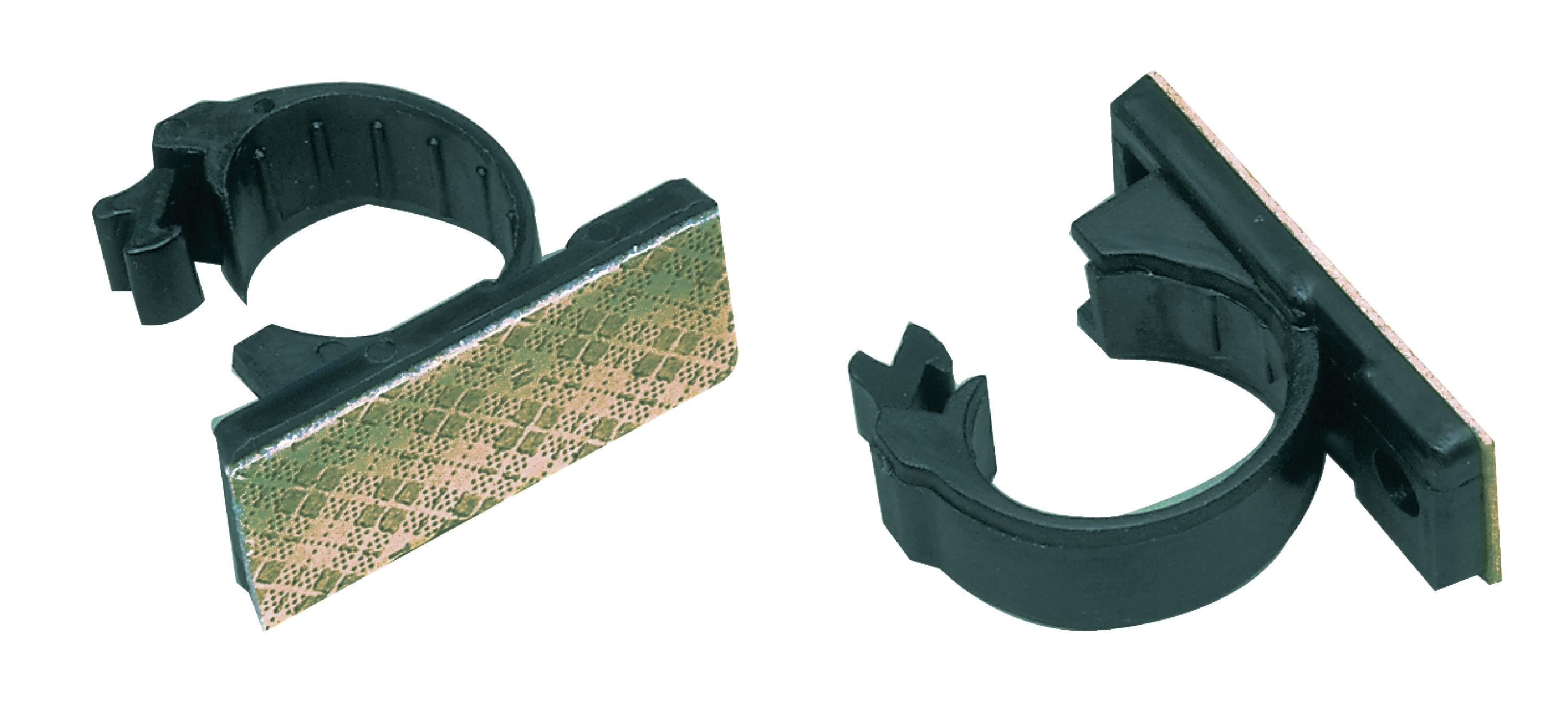 Kabel clips Klämma 18 mm Svart