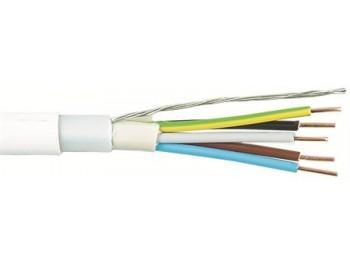 EKLK-kabel 5x2.5 mm2 vit - metervara