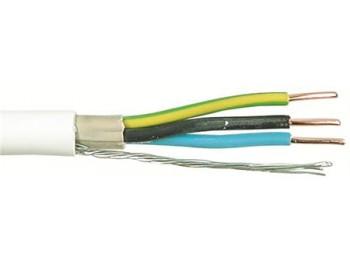EKRK-kabel Kulo-kabel 3x1,5mm2 vit - metervara
