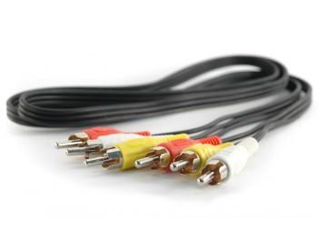 A/V-kabel 3xRCA hane - 3xRCA hane 1.0 m