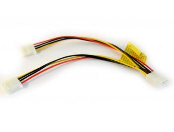 """Y-kabel 5.25"""" hane - 2x 5.25"""" hona - finns på Kabelbutiken.com!"""