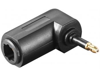 Vinklad Optisk Toslink Adapter hona/hane mini
