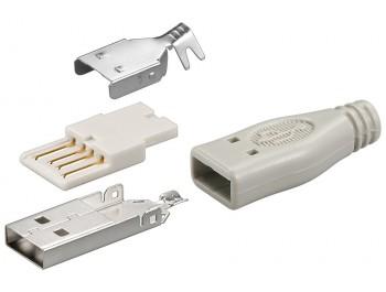 USB Typ A hane kontaktdon för lödning