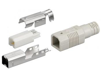 USB Typ B hane kontaktdon för lödning
