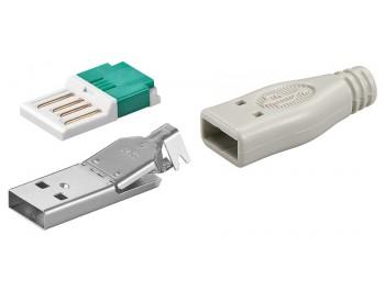 USB Typ A hane kontaktdon