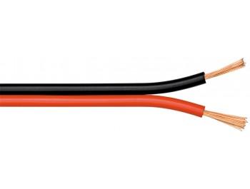 Högtalarkabel 2x1 mm² - Svart / Röd - Metervara