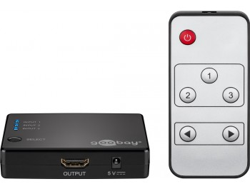 HDMI-switch 3-port automatisk  Full HD