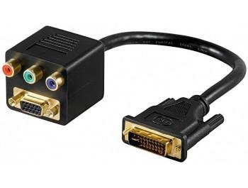 DVI-A hane till VGA hona och Komponent
