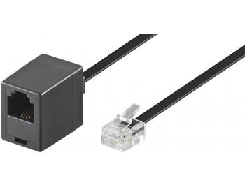 Modular telefon förlängningskabel RJ11 6P4C