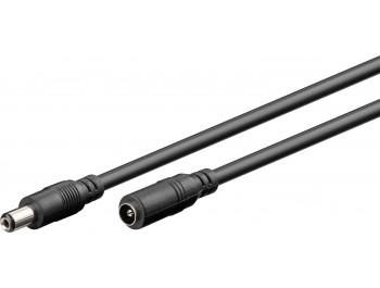 2.1 mm DC förlängningskabel