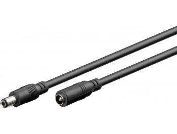 2.5 mm DC förlängningskabel