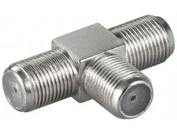 F-kontakt adapter T-adapter 1xhona - 2xhona