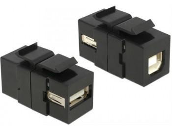 USB 2.0 Typ B uttag Keystone