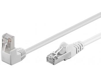 Nätverkskabel CAT 5e F/UTP Vit Patch vinklade kontakter