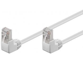 Nätverkskabel CAT 5e F/UTP Vit Patch med vinklad två kontakter