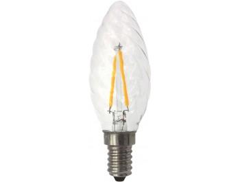 Filament Led-Lampa,Kron/Tvist, 2W, E14, 230V