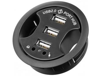 Infälld 3-ports USB-hub