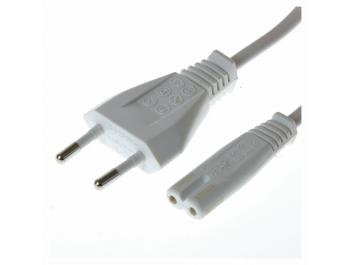 Apparatkabel 230v IEC C7 5 m Vit