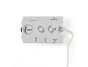 Ljudhub för Högtalare/headset med volymkontroll