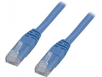 Nätverkskabel U/UTP Cat5e patchkabel Blå 0.5 m