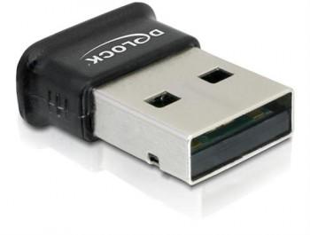 DeLOCK Bluetooth 4.0 klass 2(10m), USB 2.0, 3 Mb/s, svart