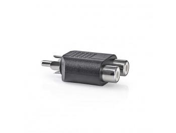 Adapter RCA-hane - 2x RCA-hona