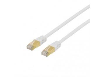 Nätverkskabel S/FTP Cat7 patchkabel Vit