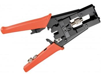 Crimpverktyg  F, BNC, RCA kompressionskontakter