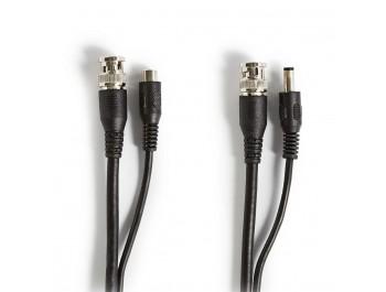 CCTV-säkerhetskabel BNC/DC - RG59