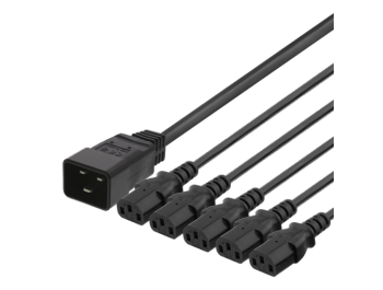 Apparatkabel IEC C20 till 5x IEC C13