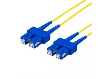Fiberkablage, SC - SC, 9/125, OS2, duplex, singlemode