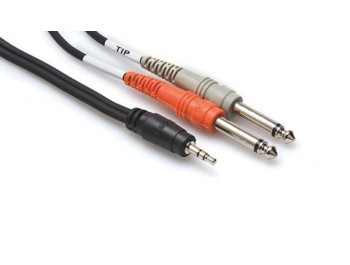 Stereo MiniTele till Dubbel (mono) Tele 3 meter