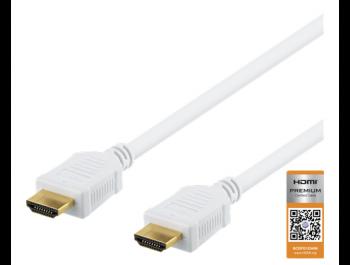 HDMI-kabel 4K - 1 m 4K Ultra HD Vit