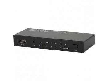 HDMI-switch 4-portar toslink/koax-ljud ut